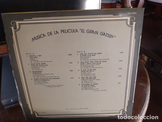 Discos de vinilo: LP BANDA SONORA - the great gatsby - - Foto 2 - 174370230