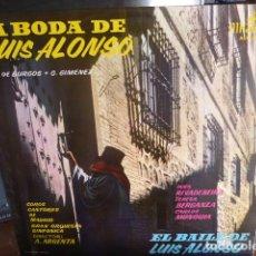 Discos de vinilo: LA BODA DE LUIS ALFONSO - COROS CANTORES DE MADRID - GRAN ORQUESTA SINFONICA - DIRECTOR A. ARGENTA. Lote 174371368