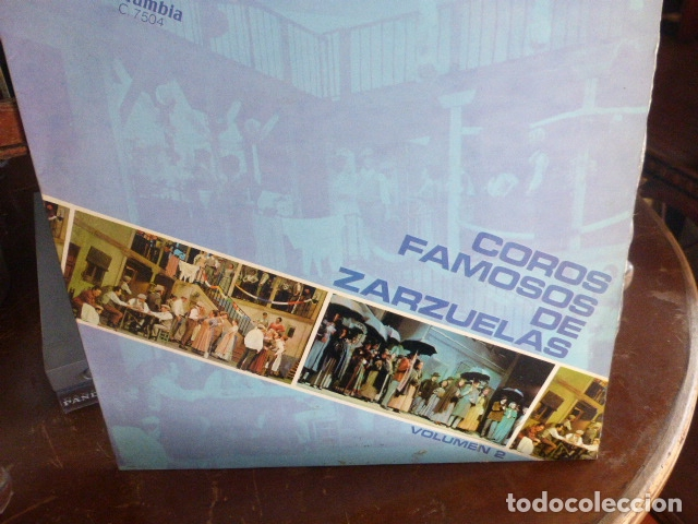 COROS FAMOSOS DE ZARZUELA - VOLUMEN 2 (Música - Discos - LP Vinilo - Clásica, Ópera, Zarzuela y Marchas)