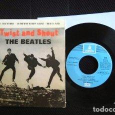 Discos de vinilo: LOS BEATLES SINGLE EP RE EDICION ESPAÑA LABEL AZUL CLARO EMI ODEON AÑOS 70. Lote 174372350