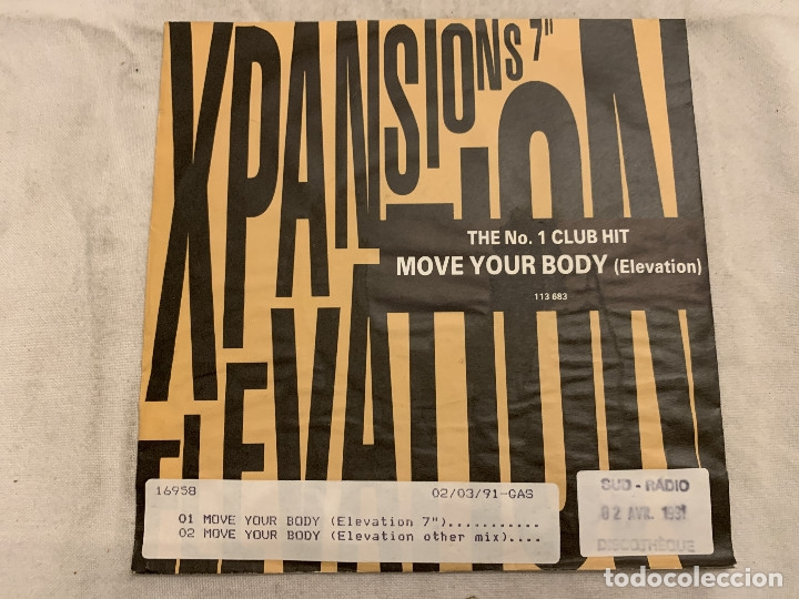 Discos de vinilo: Xpansions ‎– Move Your Body (Elevation) Sello: Arista ‎– 113 683, Optimism Records ‎– 113 683 Forma - Foto 2 - 174405745