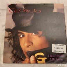 Discos de vinilo: GEORGIO – I DON'T WANT 2 BE ALONE SELLO: MOTOWN – ZB42139 FORMATO: VINYL, 7 , 45 RPM, SINGLE. Lote 174405817
