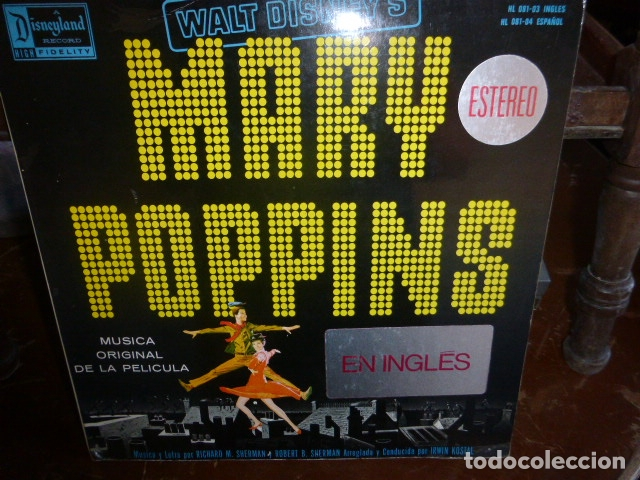 LP - MARY POPPINS - WALT DISNEY´S RECORDS 1976 EN INGLES (Música - Discos - LP Vinilo - Bandas Sonoras y Música de Actores )