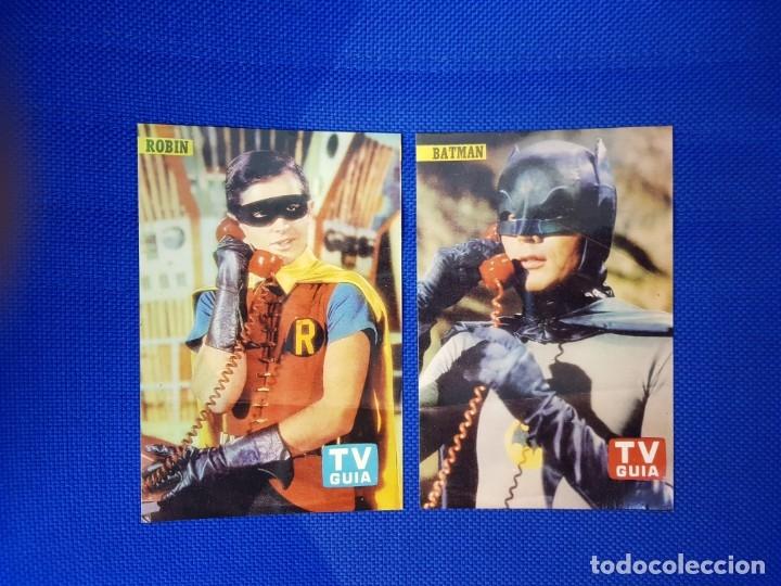 BATMAN ROBIN TV GUIA 2 FOTOS COLOR COLECCIONISTAS (Música - Discos - LP Vinilo - Pop - Rock Extranjero de los 50 y 60)