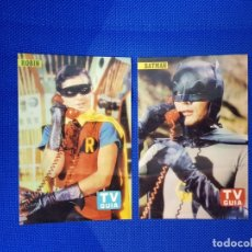 Discos de vinilo: BATMAN ROBIN TV GUIA 2 FOTOS COLOR COLECCIONISTAS. Lote 174406370