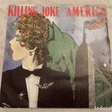 Discos de vinilo: KILLING JOKE – AMERICA SELLO: EG – EGO 40 FORMATO: VINYL, 7 , 45 RPM PAÍS: UK FECHA: 18 APR 1988. Lote 174407427