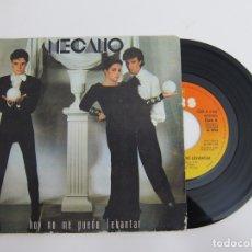Discos de vinilo: 45 RPM - MECANO - HOY NO ME PUEDO LEVANTAR. Lote 174408994
