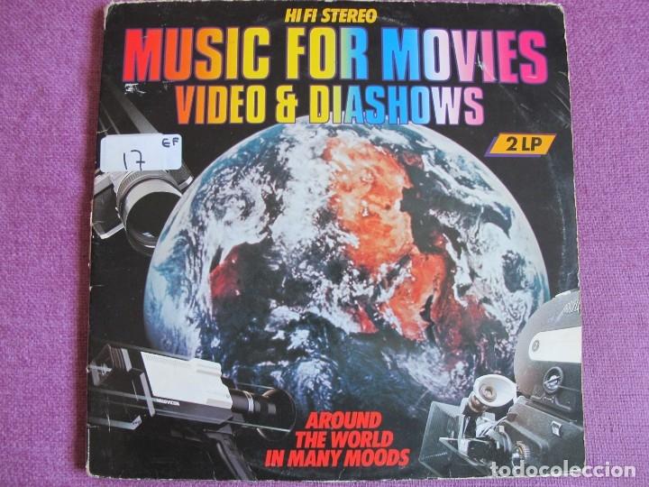 LP - MUSIC FOR MOVIES, VIDEO AND DIASHOWS-AROUND THE WORLD IN MANY MOODS (DOBLE DISCO) (Música - Discos - LP Vinilo - Bandas Sonoras y Música de Actores )