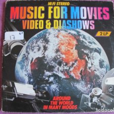 Discos de vinilo: LP - MUSIC FOR MOVIES, VIDEO AND DIASHOWS-AROUND THE WORLD IN MANY MOODS (DOBLE DISCO). Lote 174409644