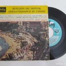 Discos de vinilo: 45 RPM - SELECCION DEL FESTIVAL CINEMATOGRAFICO DE CANNES. Lote 174409667