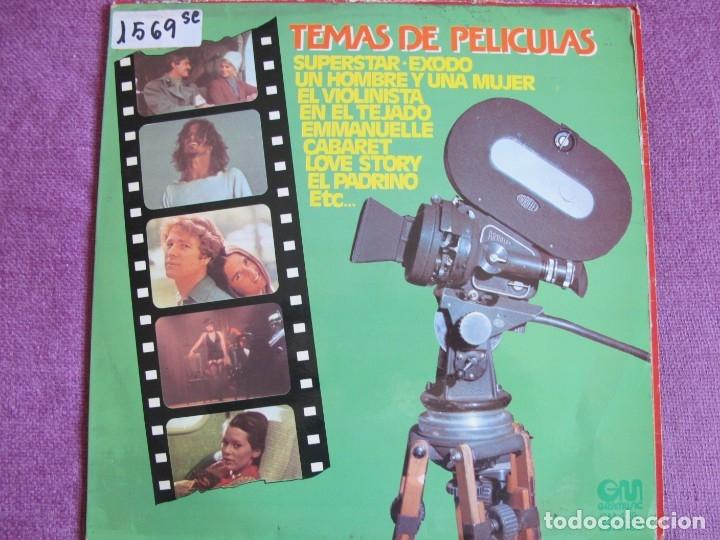 LP - TEMAS DE PELICULAS - VARIOS (SPAIN, GRAMUSIC 1976) (Música - Discos - LP Vinilo - Bandas Sonoras y Música de Actores )