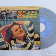 Discos de vinilo: 45 RPM - JOSE GUARDIOLA - 3º FESTIVAL DE LA CANCION MEDITERRANEA. Lote 174409759