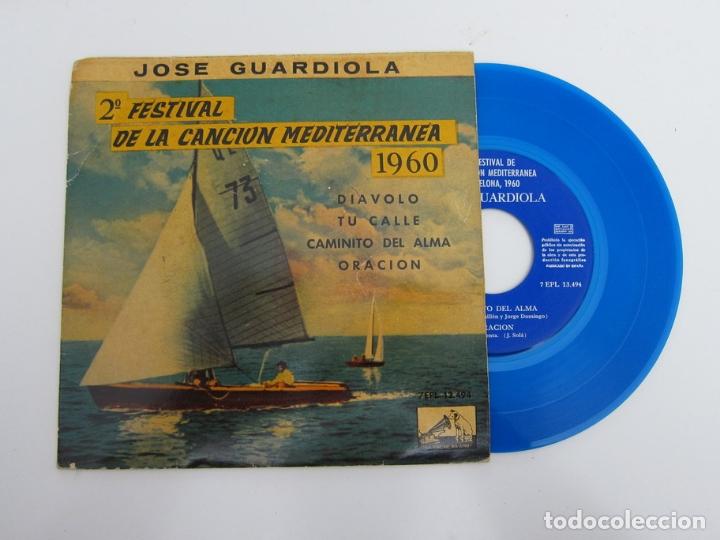 45 RPM - JOSE GUARDIOLA - 2º FESTIVAL DE LA CANCION MEDITERRANEA 1960 (Música - Discos - Singles Vinilo - Otros Festivales de la Canción)