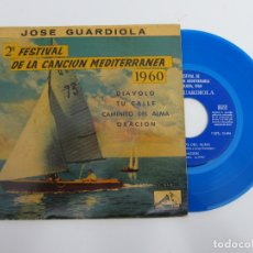 Discos de vinilo: 45 RPM - JOSE GUARDIOLA - 2º FESTIVAL DE LA CANCION MEDITERRANEA 1960. Lote 174409873