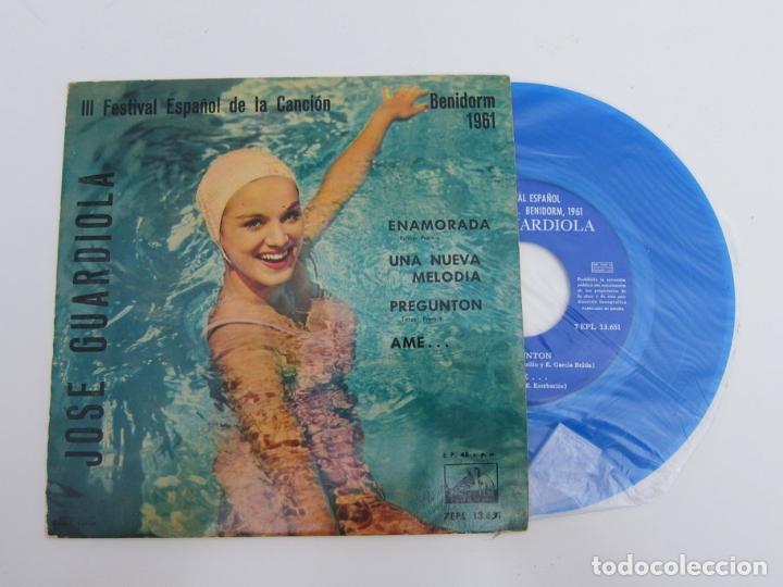 45 RPM - JOSE GUARDIOLA - 3º FESTIVAL ESPAÑOL DE LA CANCION DE BENIDORM 1961 (Música - Discos - Singles Vinilo - Otros Festivales de la Canción)