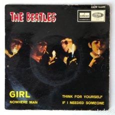 Discos de vinilo: THE BEATLES – GIRL + 3 - EP DSOE 16.690 - 1966. Lote 174413450
