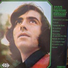 Discos de vinilo: JOAN MANUEL SERRAT LP SELLO PELADOR AÑO 1970 CONTIENE LA CANCIÓN LA,LA,LA.. Lote 174421695
