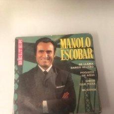 Discos de vinilo: MANOLO ESCOBAR. Lote 174427292