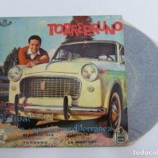 Disques de vinyle: 45 RPM - TORREBRUNO CANTA LOS EXITOS DEL I FESTIVAL DE LA CANCION MEDITERRANEA. Lote 174431805