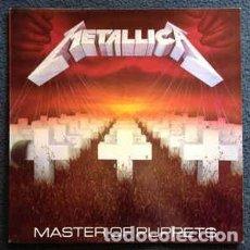 Discos de vinilo: METALLICA - MASTER OF PUPPETS - VERTIGO - 838 141-1 - ESPAÑA - 1989 - ENCARTES. Lote 174433872