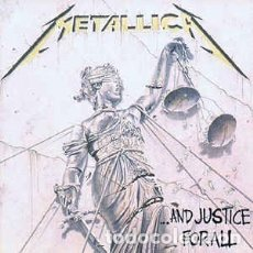 Discos de vinilo: METALLICA - AND JUSTICE FOR ALL - VERTIGO - 836 062-1 - DOBLE VINILO - ESPAÑA - 1988 - ENCARTES. Lote 174438265