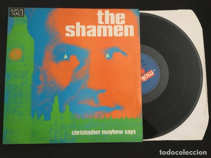 DISCO MAXI SINGLE VINILO 12'' THE SHAMEN - CHRISTOPHER MAYHEW SAYS EDICIÓN INGLESA DE 1987 (Música - Discos de Vinilo - Maxi Singles - Electrónica, Avantgarde y Experimental)