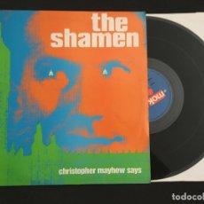 Discos de vinilo: DISCO MAXI SINGLE VINILO 12'' THE SHAMEN - CHRISTOPHER MAYHEW SAYS EDICIÓN INGLESA DE 1987. Lote 174447179