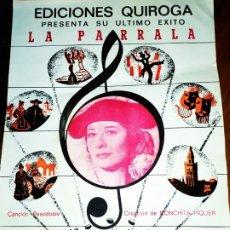 Discos de vinilo: EDICIONES QUIROGA LA PARRALA CONCHITA PIQUER 1941 RAFAEL DE LEÓN GRÁFICAS AGANJO 1982. Lote 174460035