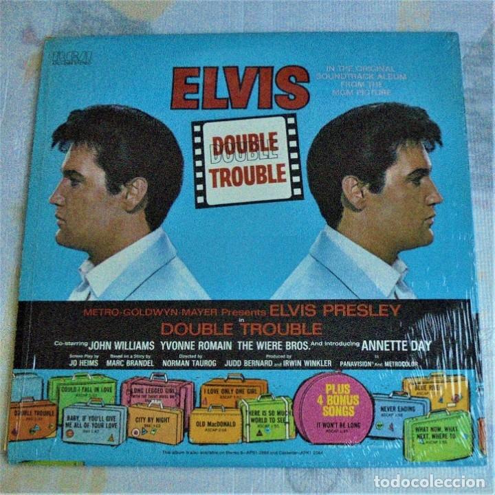 ELVIS PRESLEY - DOUBLE TROUBLE - RCA APL1-2564 STEREO - LP EDITADO EN USA (Música - Discos - LP Vinilo - Bandas Sonoras y Música de Actores )