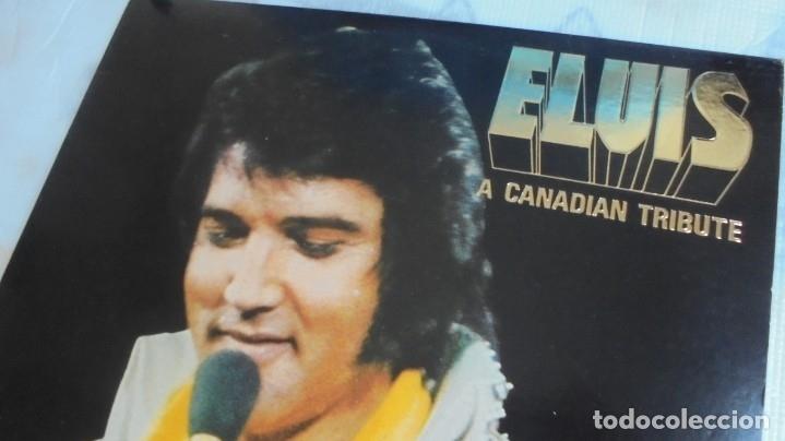 Discos de vinilo: ELVIS PRESLEY - A CANADIAN TRIBUTE, VINILO AMARILLO TRASLÚSIDO - Foto 2 - 174402109