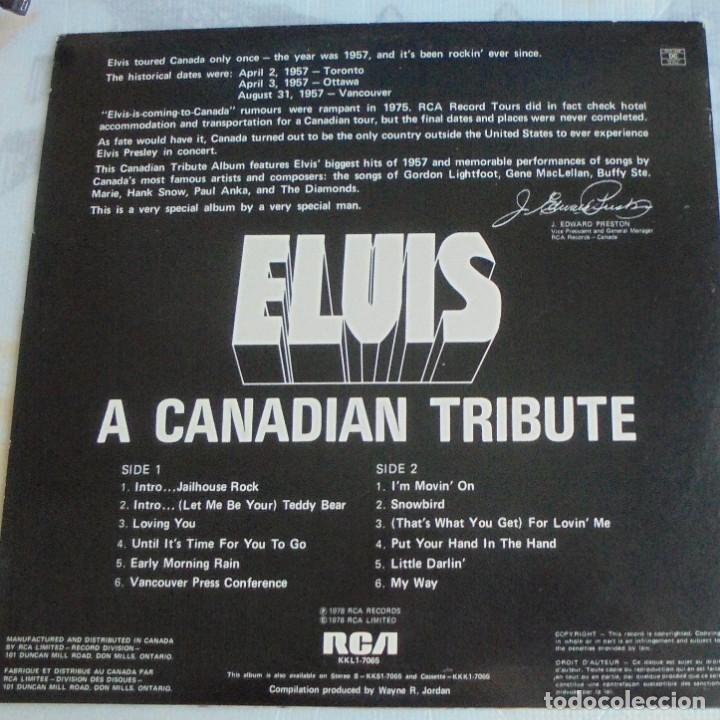 Discos de vinilo: ELVIS PRESLEY - A CANADIAN TRIBUTE, VINILO AMARILLO TRASLÚSIDO - Foto 4 - 174402109