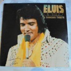 Discos de vinilo: ELVIS PRESLEY - A CANADIAN TRIBUTE, VINILO AMARILLO TRASLÚSIDO. Lote 174402109