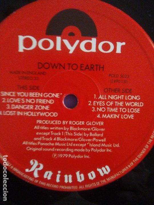 Discos de vinilo: RAINBOW.DOWN TO EARTH.GRAHAM BONNET/RITCHIE BLACKMORE/COZY POWEL.DEEP PURPLE.POLYDOR DELUXE POLD 502 - Foto 10 - 174462654