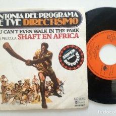 Discos de vinilo: JOHNNY PATHE - SHAFT IN AFRICA -SG ABC / MEDITERRANEO 1976 // BLAXPLOITATION FUNK MONSTER SPAIN ONLY. Lote 174467527