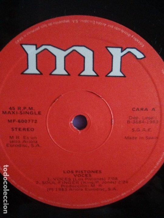 Discos de vinilo: MUY RARO/BUSCADO. MAXI. PISTONES - VOCES - SELLO MR MF 600772 - 1983 / ARIEL ROT - Foto 4 - 174469367