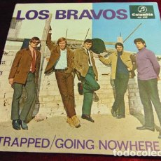 Disques de vinyle: LOS BRAVOS ‎– TRAPPED / GOING NOWHERE - SINGLE 1966. Lote 174480779