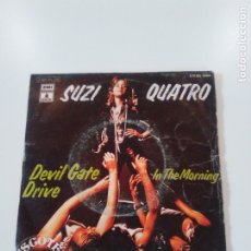 Discos de vinilo: SUZI QUATRO DEVIL GATE DRIVE / IN THE MORNING ( 1974 EMI ODEON ESPAÑA ). Lote 174485479