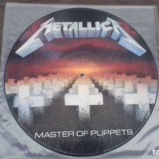 Discos de vinilo: METALLICA – MASTER OF PUPPETS PICTURE DISC UK EDICION 1986 SIN CODIGO DE BARRAS. Lote 174489432