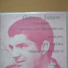 Discos de vinilo: ANTONIO LATORRE Y SU ORQUESTA MAMBOLINO DEL SIMPLON EP. Lote 174502705