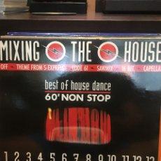 Discos de vinilo: DISCO L. P. DE VINILO MIXING THE HOUSE. BEST OF HOUSE DANCE. 60'NON STOP: SAWMIX 1, CAPELLA, SAWMIX. Lote 174509573