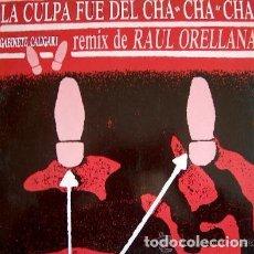 Discos de vinilo: GABINETE CALIGARI - LA CULPA FUE DEL CHA CHA CHA (RAÚL ORELLANA REMIX) MAXI-SINGLE SPAIN 1990 . Lote 174510649