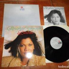 Discos de vinilo: ANGELA CARRASCO LA CANDELA LP VINILO FIRMADO + CARPETA PROMO + HOJA PRENSA JOSE MARIA CANO MECANO. Lote 174515835