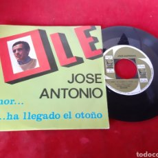 Discos de vinilo: JOSÉ ANTONIO SINGLES OLÉ. Lote 174518768