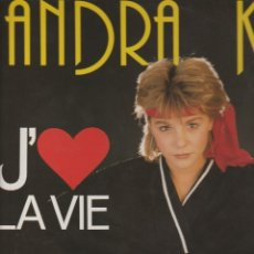 Discos de vinilo: LP SANDRA KIM J 'AIME LA VIE CARRERE 1986 CARRERE FRANCE AUTOGRAF . Lote 174541692