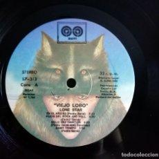 Discos de vinilo: LONE STAR – VIEJO LOBO LP, SPAIN 1982 SIN PORTADA. Lote 174566043