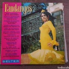 Discos de vinilo: VARIOS ARTISTAS FANDANGOS BELTER 1969 DISCO VINILO RECOPILACIÓN. Lote 174579340