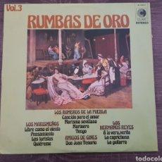 Discos de vinilo: RUMBAS DE ORO VOL.3 DISCO DE VINILO 1973. Lote 174580809