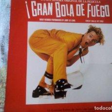 Discos de vinilo: ¡GRAN BOLA DE FUEGO! -JERRY LEE LEWIS (1989 POLYDOR) SPAIN EDITION. Lote 174582107