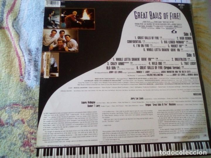 Discos de vinilo: ¡Gran bola de fuego! -Jerry Lee Lewis (1989 Polydor) spain edition - Foto 2 - 174582107