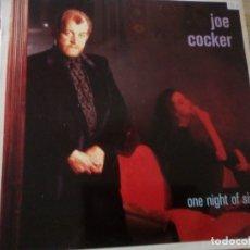 Discos de vinilo: JOE COCKER - ONE NIGHT OF SIN -CAPITOL ESPAÑA 1989. Lote 174583518